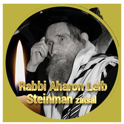 Maran Hagaon Rabbi Aharon Leib Steinman zatsal