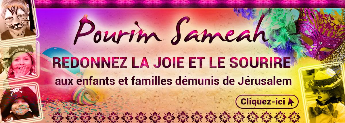 Redonnez la joie et le sourire aux enfants et familles de Jérusalem