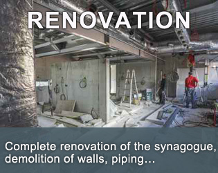 Complete renovation of the synagogue